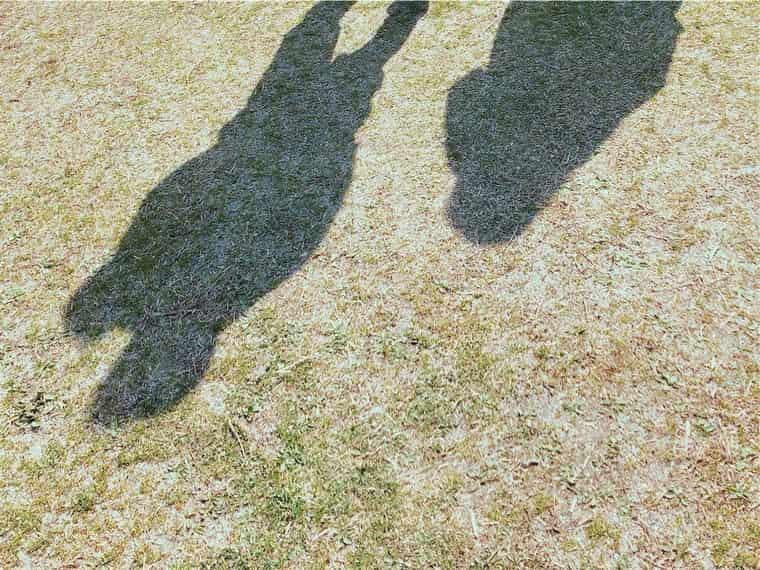 Aちゃん夫婦の影