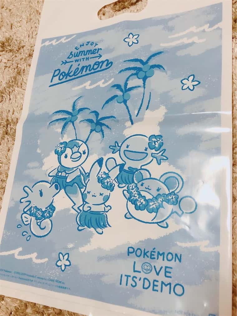 イッツデモとポケモンコラボのショップ袋