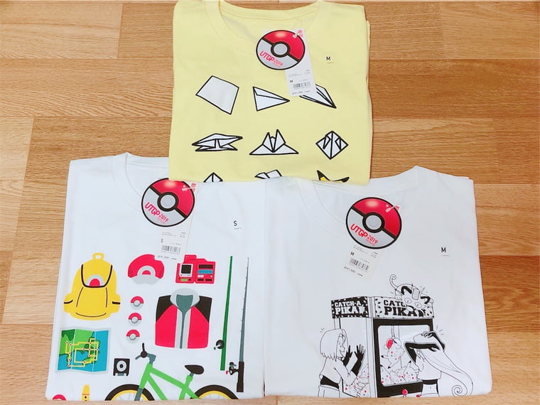 ユニクロとポケモンコラボのTシャツ
