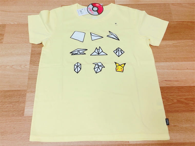 ユニクロUTピカチュウ折紙Tシャツ